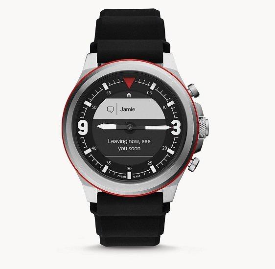 Fossil FTW7020 HR Latitude Hybrid Smartwatch mit Silikon-Armband für 58,90€ (statt 190€)