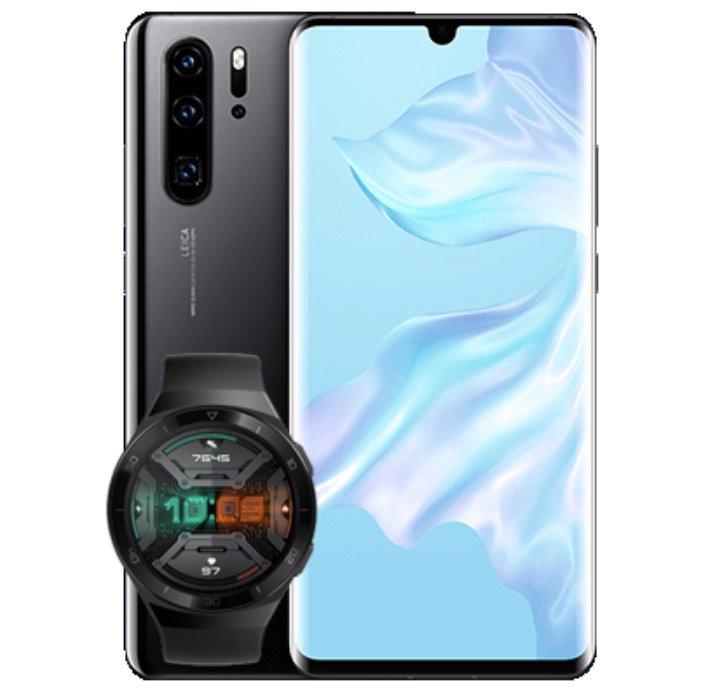 Huawei P30 Pro New Edition + GT2e Smartwatch (49€) + o2 Allnet Flat mit 40GB LTE für 34,99€ mtl.