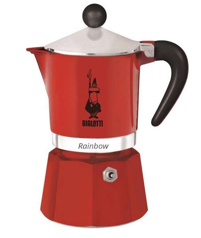 Bialetti Espressokocher Rainbow in Rot für 19,17€ inkl. Prime Versand (statt 23€)