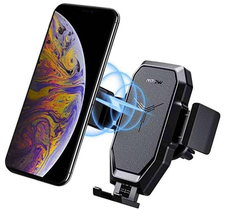 Mpow Qi Wireless Charger Autohandyhalterung für 12,99€ mit Prime (statt 22€)