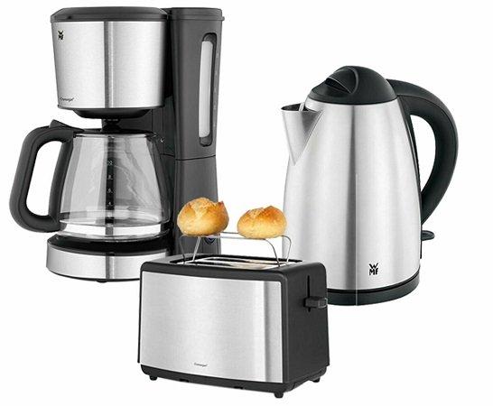 WMF Bueno Frühstücks-Set (Wasserkocher, Toaster & Kaffeemaschine) für 88,88€