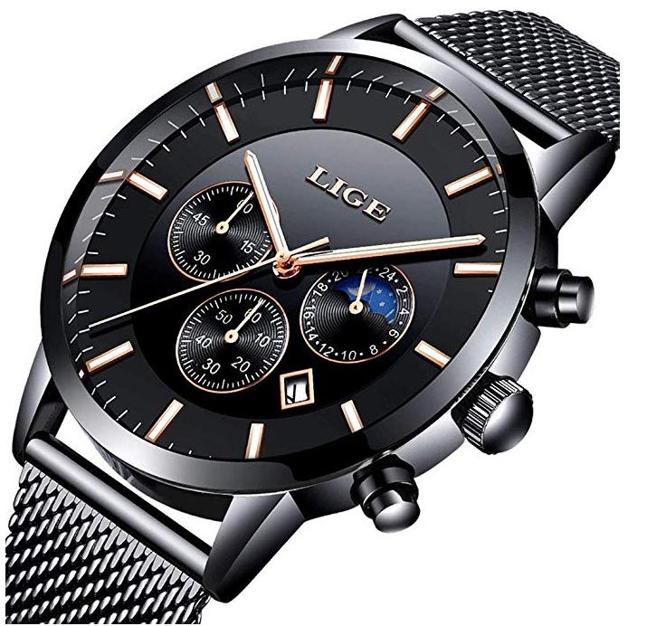 LIGE Edelstahl Herren Uhr, wasserdicht, für 17,49€ inklusive Versand (statt 25€)