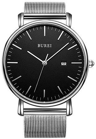 BUREI - minimalistische Quarz Uhren mit Milanese Armband für 16,89€ inkl. VSK