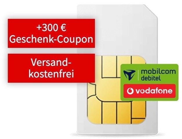 Vodafone green Allnet Flat mit 6GB LTE für 16,99€ mtl. + 300€ Media Markt Coupon