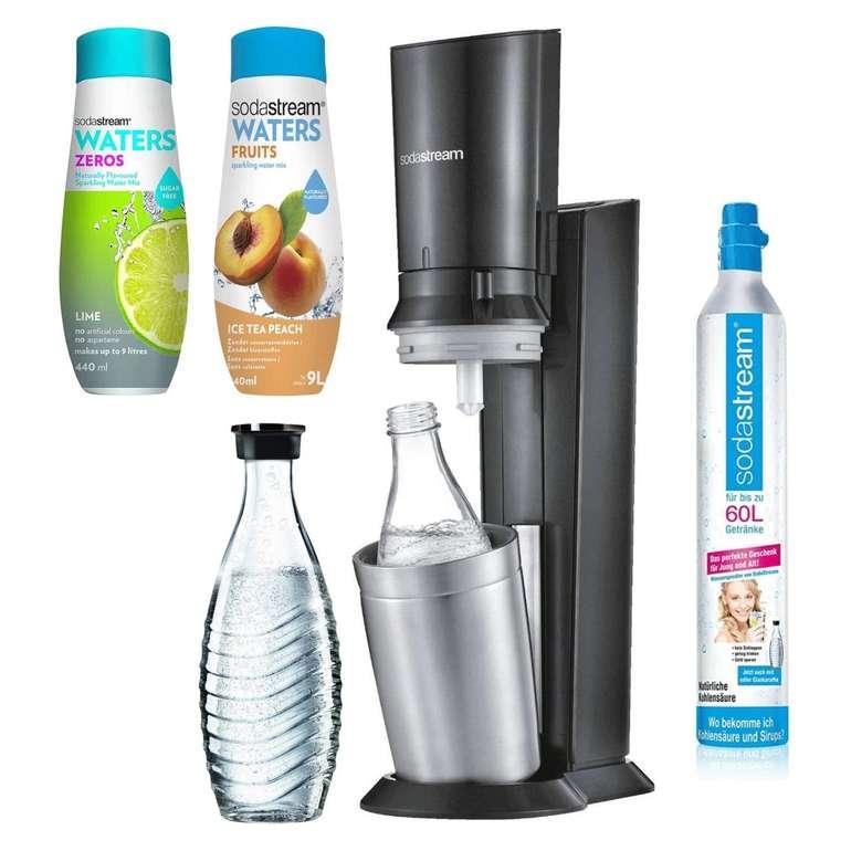 SodaStream Crystal 2.0 schwarz mit 2 Glaskaraffen und 2x Sirup für 99,99€ inkl. Versand