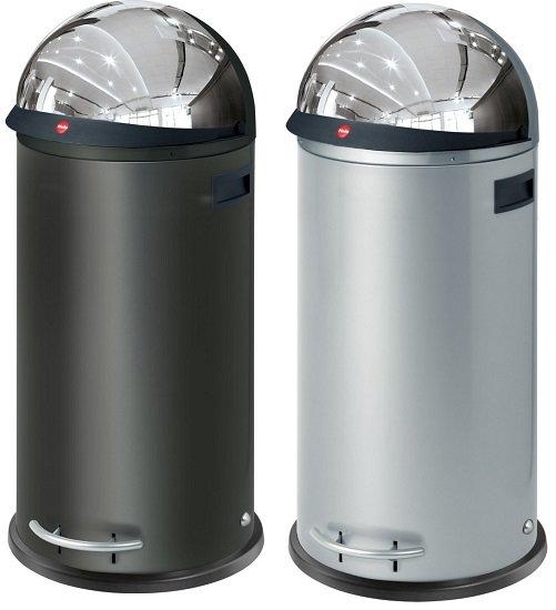 Hailo KickVisier XL Großraum-Abfallbox in Schwarz / Silber für 119,95€ (statt 189€)