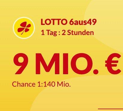 Lotto24: Lotto 6aus49 mit 12 Feldern für 10€ spielen - 9 Millionen € im Jackpot (nur Neukunden!)