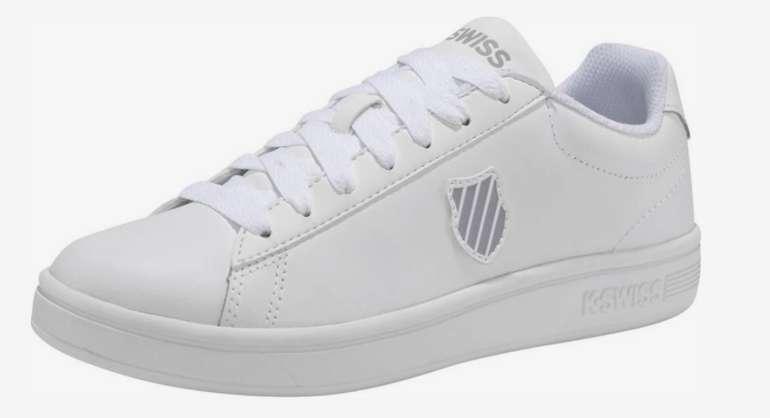 """K-Swiss Sneaker """"Court Shield M"""" in weiß für 14,50€ inkl. Versand (statt 40€) - Größe 42,42.5,43,46"""