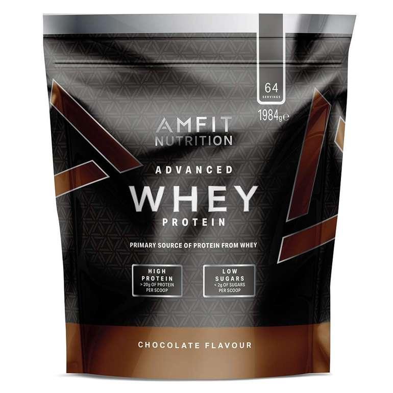 Preisfehler? Amfit Nutrition Advanced Whey Protein Schokoladengeschmack 1984g für 6,32€ inkl. Primeversand (statt 25€)