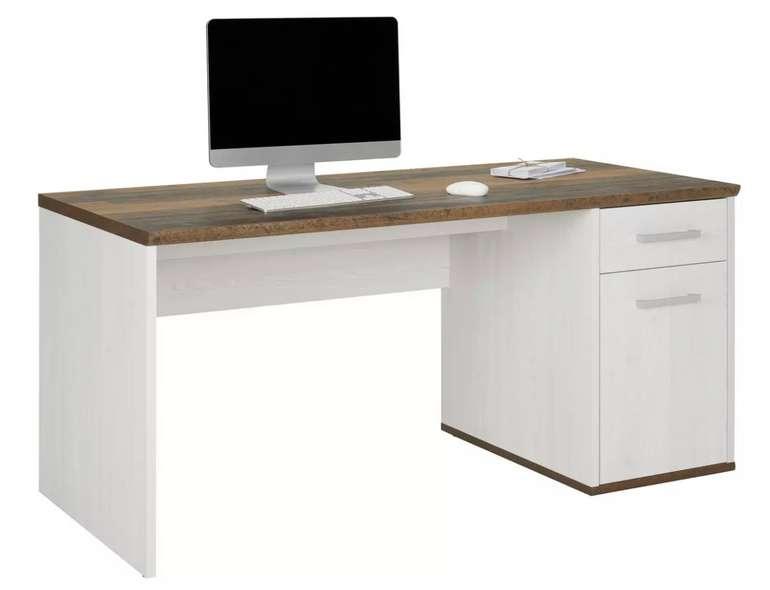 Modern Living Schreibtisch in Weiß/Dunkelbraun für 162,25€inkl. Versand (statt 219€)