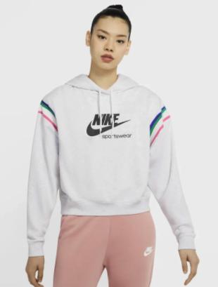 Nike Sportswear Heritage Damen-Hoodie in weiß für 32,97€ inkl. Versand (statt 40€) - Nike Membership!