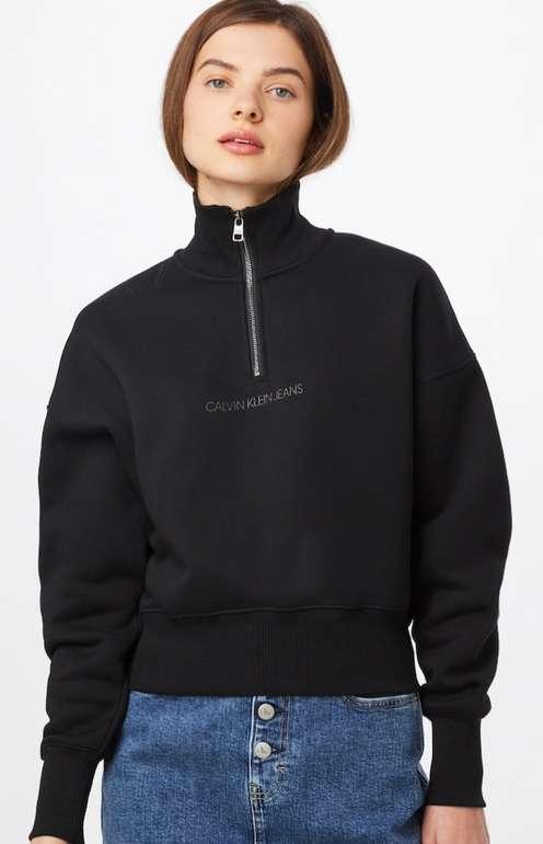 Calvin Klein Jeans Damen Sweatshirt in schwarz für 39,90€ inkl. Versand (statt 70€)