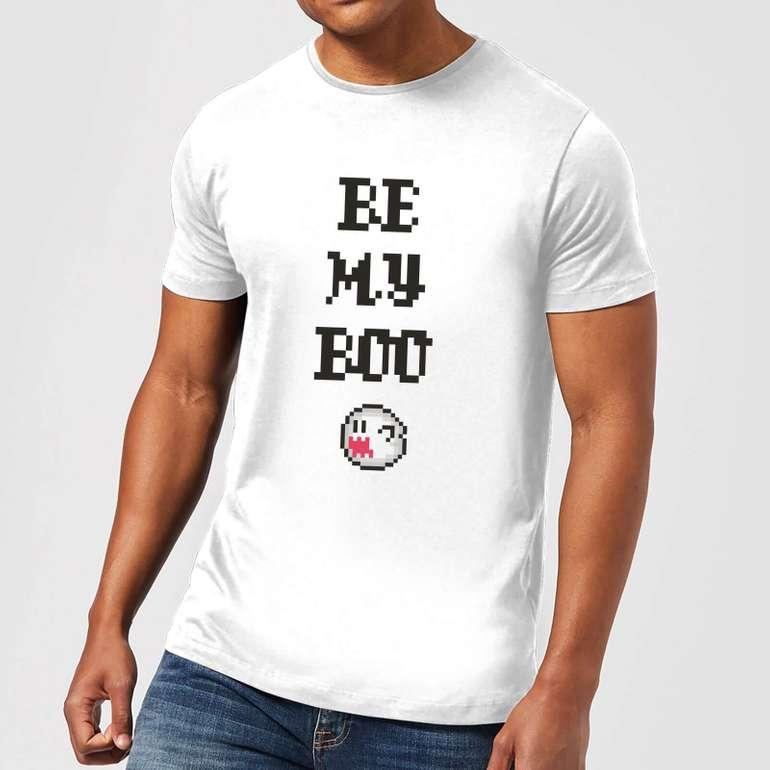 Nintendo Boo T-Shirt (Damen / Herren) + Tasse + 4 Untersetzer für 14,99€ (statt 21€)