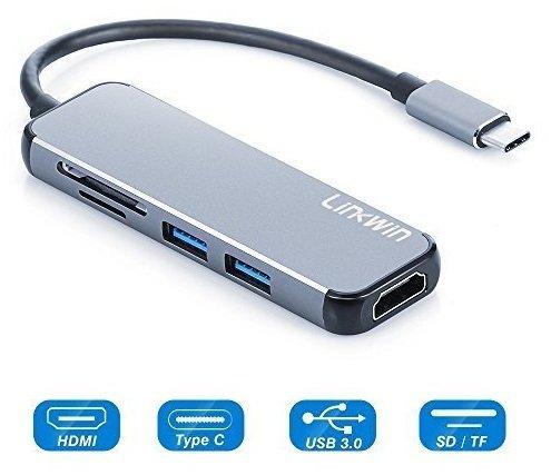 Linkwin -  6 Port USB C Hub mit HDMI für MacBook Pro nur 16,49€ inkl. VSK