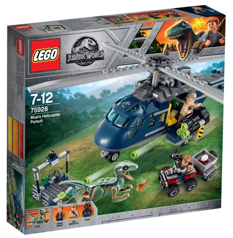 Lego Jurassic World - Blues Hubschrauber-Verfolgungsjagd (75928) für 38,99€ (statt 46€)