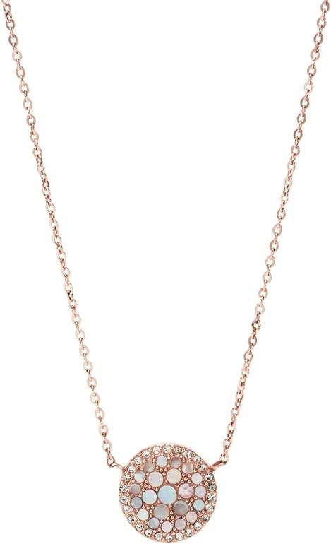 """Fossil Damen Halskette """"Pearl Disc"""" für 16,50€ inkl. Versand (statt 40€)"""