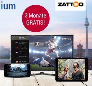 3 Monate Zattoo Premium kostenlos testen als GMX Kunde (statt 30€)