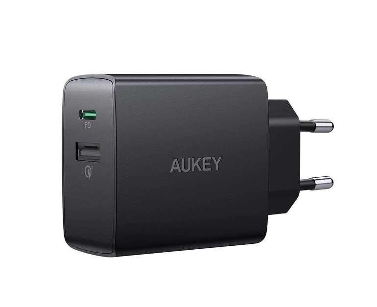 Aukey PA-Y17 18W USB C Ladegerät (PD 2.0, QC 3.0) für 9,87€ inkl. Prime Versand (statt 21€)