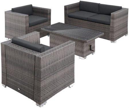 Merxx Loungeset Bari Deluxe (4 Personen, 12-tlg.) für 509,99€ (statt 540€)