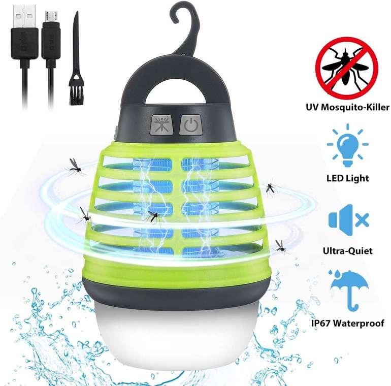Kingso 3-in-1 elektrische Mücken- & Campinglampe für 16,09€ inkl. Prime Versand (statt 23€)