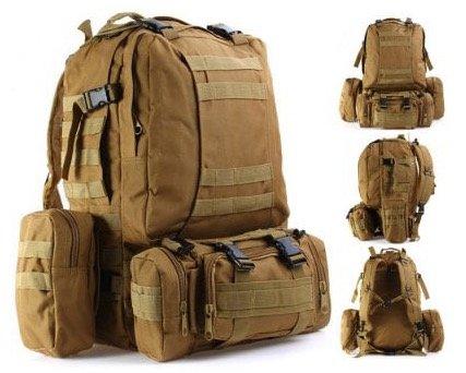 Tactical Combination Type Backpack Outdoor Rucksack mit 60L Volumen für 24,29€