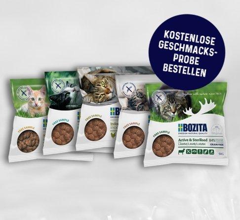 Bozita Katzen Trockenfutter Probe (50 Gramm) kostenlos bestellen