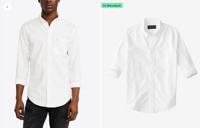 Abercrombie & Fitch Hemd Icon Core Oxford