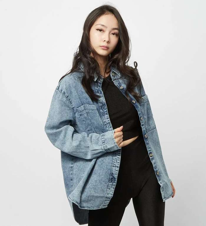 Urban Classics Denim Oversized Damen Hemd für 21,49€ inkl. Versand (statt 28€)