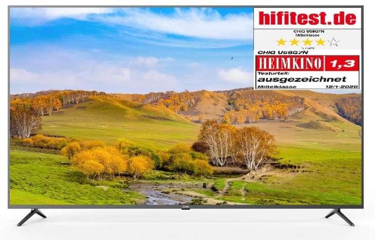 CHiQ U58G7N - 58 Zoll LED UHD 4K Smart TV mit HDR10, Wifi, Video, Netflix, YouTube etc. für 389,99€