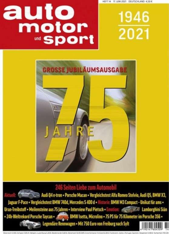 6 Ausgaben Auto Motor und Sport nur 5,95€ - Keine Kündigung notwendig!