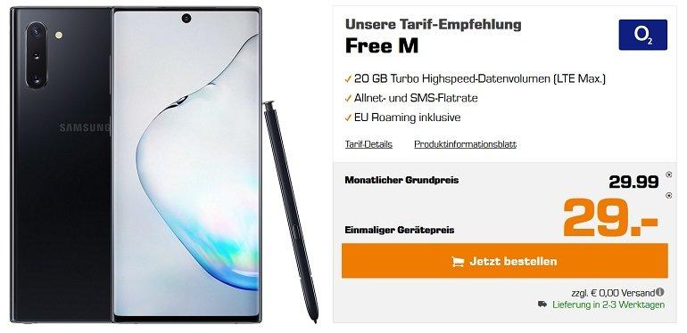 Samsung Galaxy Note 10 o2 free M Allnet-Flat 20GB LTE