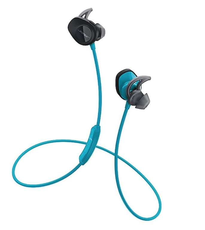 Bose SoundSport Wireless In-Ears (Bluetooth, NFC, 6h Akkulaufzeit, Mikrofon, Kabelfernbedienung) für 99€