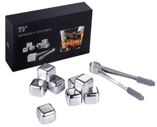 8er TaoTronics Edelstahl Eiswürfel Set für 9,99€ inkl. Prime VSK (statt 15€)