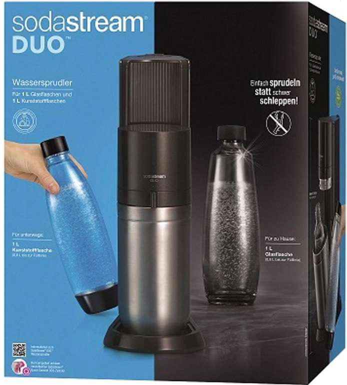 Sodastream Duo inkl. 1 Glas- & 1 PET-Flasche + Kohlensäurezylinder für 94,95€ inkl. Versand (statt 109€)