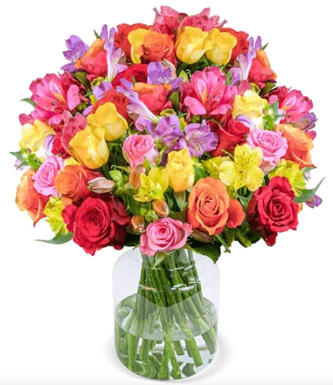 """Blumenstrauß """"Rosenglück XXL"""" mit bis zu 120 Blüten für 27,98€ inkl. Versand (statt 45€)"""