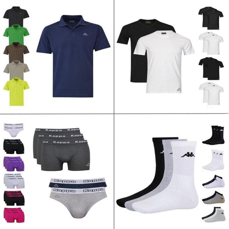 Kappa Poloshirt, 2er T-Shirts, 3er Boxer, 4er Slips, 9er Socken je 9,99€