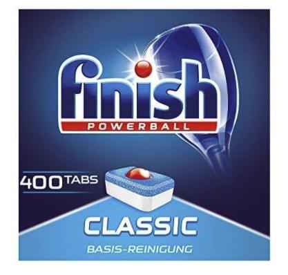 4x 100er Pack Finish Classic Spülmaschinentabs (400 Tabs!) für 31,99€ inkl. Versand (statt 37€)