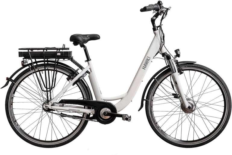 HAWK e-City Wave White E-Bike mit 250 Watt Leistung und 90km Reichweite für 879,12€ (statt 1.034€)