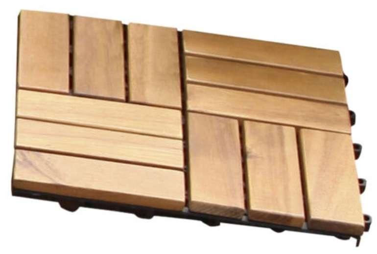 10er Pack Gartenfreude Akazienholz Holzfliesen (0,9m²) für 29,90€ inkl. Versand (statt 36€)