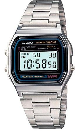 Casio Collection A158WA-1DF Unisex Armbanduhr für 17,99€ (statt 28,90€)