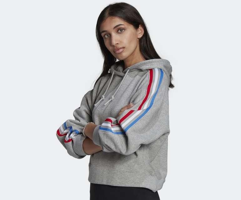 Adidas Adicolor Tricolor Trefoil Crop Damen Hoodie für 30,60€ inkl. Versand (statt 41€)