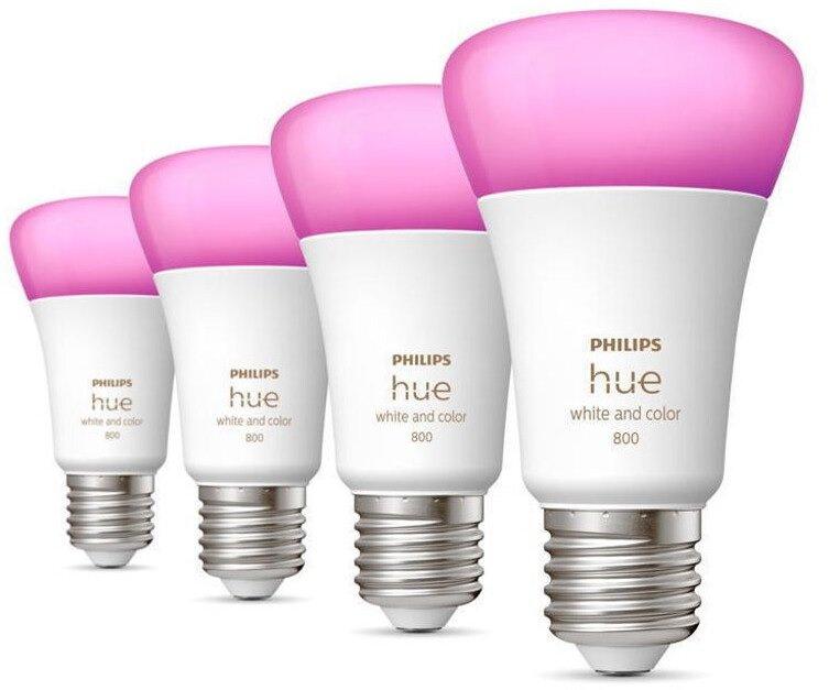 4x Philips Hue White Color Ambiance mit E27 und 60 W für 140,08€ inkl. Versand (statt 159€)