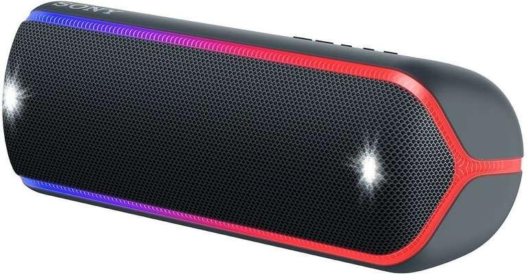 Sony SRS-XB32 Bluetooth Lautsprecher (Wasserfest, NFC, farbige Lichtleiste) für 77,08€ inkl. Versand