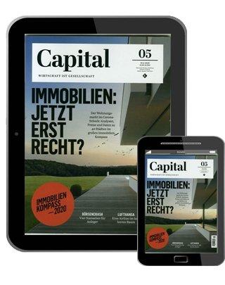 Jahresabonnement Capital e-Paper für 75,04€ + z.B. 70€ Bestchoice Gutschein