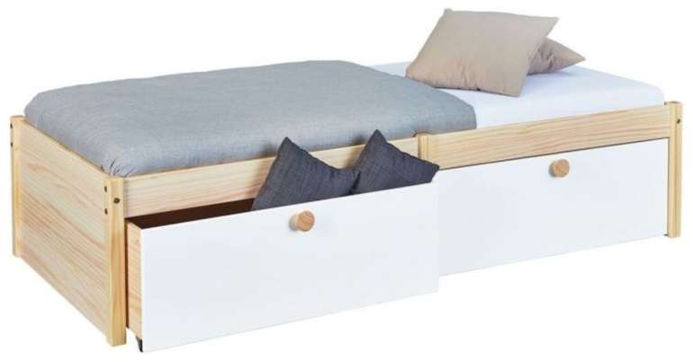 Schubkasten-Bett Saffar aus massiver Kiefer mit Lattenrost für 199€ inkl. Versand (statt 319€)