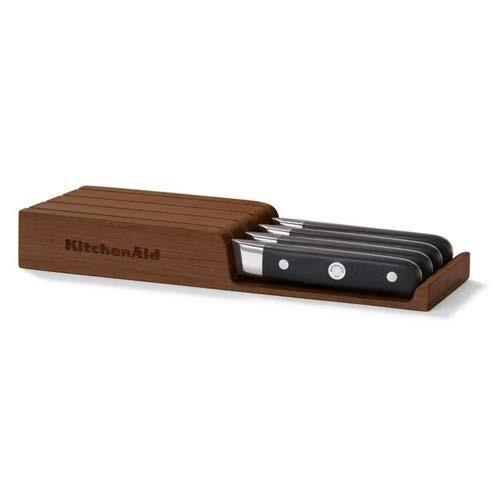 KitchenAid KKFTR04SKWM Holzblock mit 4-tlg. Steak-Messer-Set für 65,90€ (statt 90€)