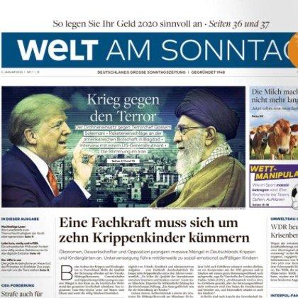 """Jahresabo """"Welt am Sonntag"""" für 239,20€ + 170€ Geldprämie"""