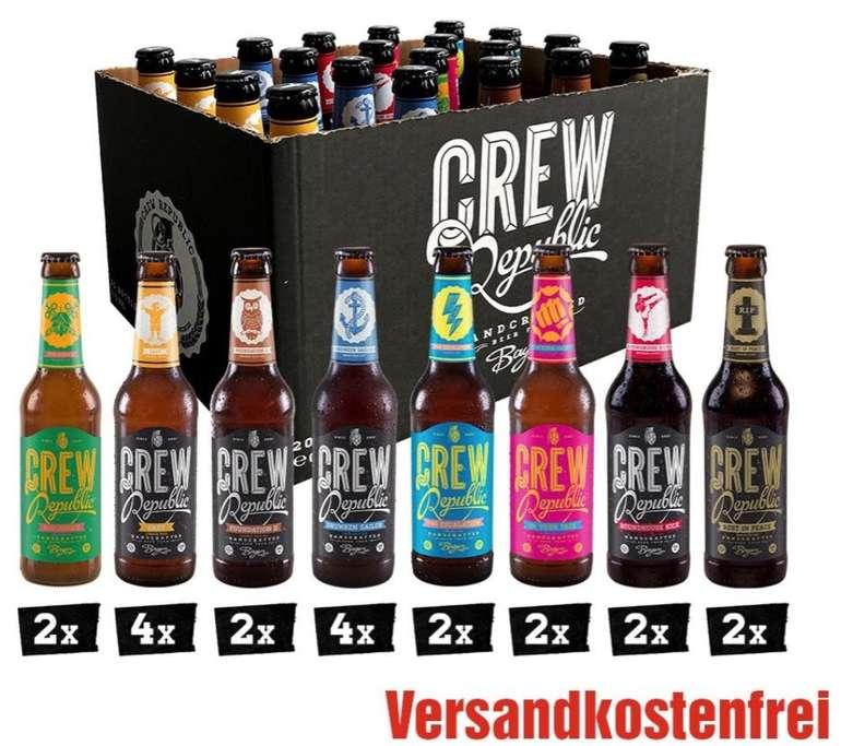 Crew Republic Craft Beer Sale + VSKfrei - z.B. Crew Republic Craft Bier Mix (20 x 0,33 L) für 26,12€