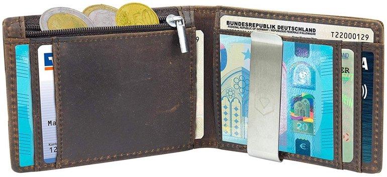 Vorbei! Prestige-Wallet Geldbeutel mit Geldklammer & Münzfach gratis!