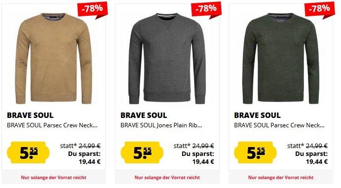Verschiedene Brave Soul Sweatshirts